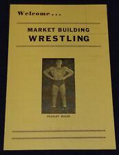 1940's - WRESTLING / WRESTLER - TECUMSEH, ONTARIO, CANADA - PROGRAM