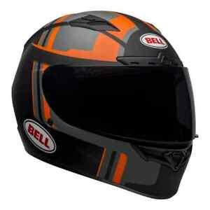 Bell Street Qualifier DLX MIPS Adult Helmet (Torque Matte Black/Orange) XL