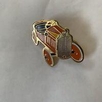 Old Car Pin Vintage Button Pinback Enamel Jalopy Antique