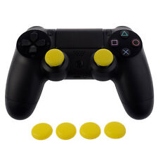 4 PCS Yellow Thumbstick Grips For PS4 Xbox One Controller with Retail Package