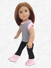 Doll Clothes Hi Lo T Shirt and Leggings fits 18 inch American Girl