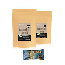 39,99€/kg Wohltuer Bio Mandelmehl Weiß Glutenfrei (2 x 250g + Clif-Riegel)