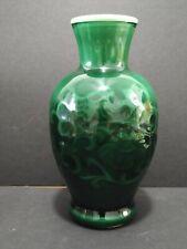 "New listing Vintage 1981 Avon ""Spring Bouquet Fragranced Vase"" Jade Green 7"""