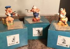 Walt Disney Classics Collection WDCC Three Little Pigs Figurines In Boxes Nice