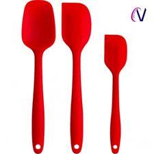 3pcs kitchen Pastry Silicone Spatula Scraper Spoon Brush Cooking Baking Utensil