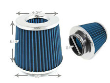 "2.75 Inches 70 mm Cold Air Intake Cone Filter 2.75"" New BLUE Fit Nissan"