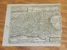 1683 Antique Map//THE ALPS in ITALY and SWITZERLAND