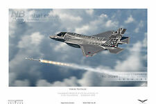 17 Squadron Lockheed/Martin F35-B Lightning II  RAF JSF DIGITAL ART PRINT