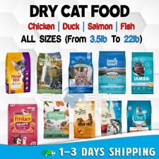Cat Food Dry Cats Treats Adult Kitten Pet lot Chicken Rice Fish Salmon All Sizes