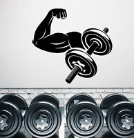 Vinyl Wall Decal Muscles Gym Fitness Sport Weights Stickers (2393ig)
