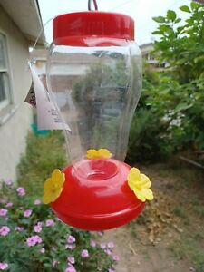 Field Feeding hummingbird bottle garden outdoor plastic flower iron hook Feeder
