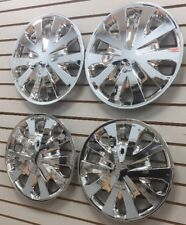 """15"""" Hubcaps Wheelcovers for 2012-2017 Nissan VERSA CHROME Set of 4 NEW AM"""