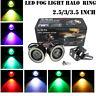 2Pcs Car COB LED Angel Eyes Fog Light Halo Ring 2.5/3/3.5 Inch DRL Driving Lamp