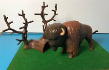 Vintage Playmobil  Western Native American Buffalo/Bison RARE