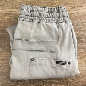 Wolves Coal Miner Men's Grey Slim Fit Baggy Jogger Cuffed Size 32 VGC JE87AI2