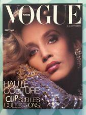 VOGUE PARIS French n 649 Septembre 1984 Jerry Hall / Haute Couture