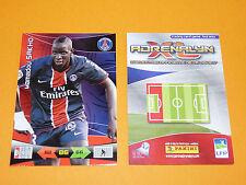 M. SAKHO PARIS SAINT-GERMAIN PSG  FOOTBALL FOOT ADRENALYN CARD PANINI 2010-2011