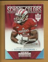 Tevin Coleman RC 2015 panini contenders SCHOOL COLORS Rookie Card # 14 Falcons