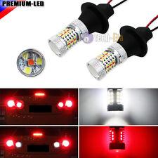 White/Red Switchback 7440 T20 31-SMD LED Bulbs For Backup Light & Rear Fog Lamps