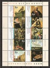 NVPH Nederland Netherlands 1826 1835 sheet MNH DUTCH PAINTERS peintres 1999