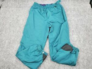 Men's Columbia Medium 100% Nylon Hiking Snow Outdoor Pants Teal Blue Elastic