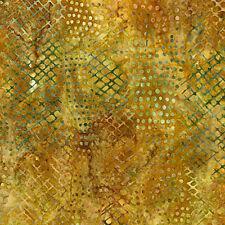 Robert Kaufman Batik Fabric, Wild, By The Half Yard, Quilting, Gold