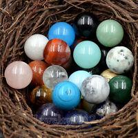 20mm Natural Gemstones Round Ball Crystal Healing Sphere Rock Stones Fluorite