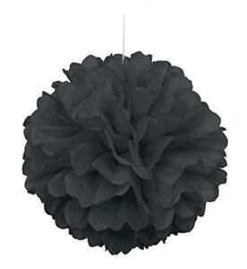 Pom Pom Decoration, 16-Inch, Black