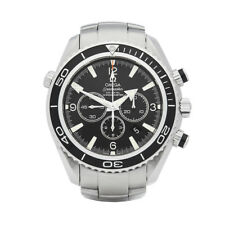 OMEGA SEAMASTER PLANET OCEAN CHRONOGRAPH STAINLESS STEEL WATCH 22105000 W5523