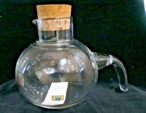 VINTAGE RETRO SWEDISH GLASS CARAFE SCANDINAVIAN MID CENTURY LINDSHAMMAR