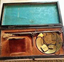 Antique 18th Century Scale with Weights & Wooden Box Brass 1780's Gold