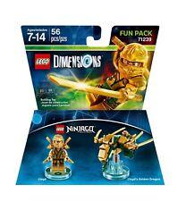 LEGO® DIMENSIONS Ninjago Fun Pack Lloyd & Dragon (Golden) 71239 - 2016 BNIB RARE