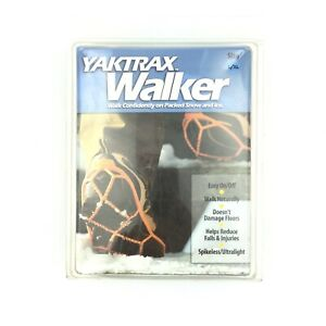 Yaktrax Walker Size XL Orange Winter Over Shoe Spikeless Walking Ice Snow