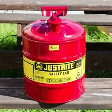 Justrite 5 Gallon Safety Gas Can,Great For Landscapers,Tree Companies, Reg $49