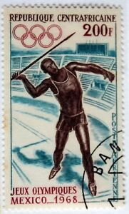 Central African Rep. 1968 Olympics – 200Fr – S.Used (R4)