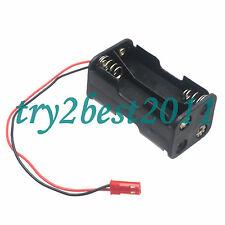 Battery Box Of Receiver Holder Case 4 AA 6v For RC Model JST Plug