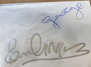 "Signed Paul Mccartney George Harrison Paper 6 X 4"""