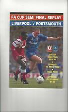 Liverpool v Portsmouth FA Cup Semi Final Replay Football Programme 1992