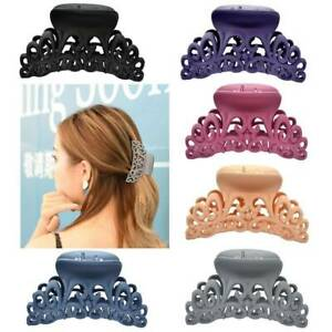 Women Plastic Hair Claw Clip Hollow Out Carving Crab Hair Clips Scrub Large Size