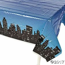 "10 - Superhero Plastic Tablecloth Super Hero Boys Table Cover (54""x108) Birthday"