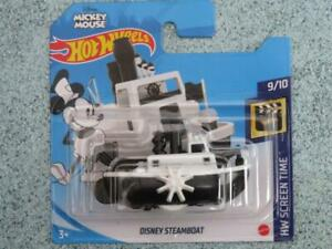 Hot Wheels 2021 #193/250 Disney Steamboat Willy Noir Blanc Mickey Mouse @ L Neuf