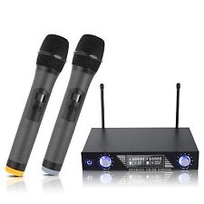 ARCHEER LCD Display Wireless VHF Microphone System Dual Handheld Microphones