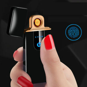NEW USB Electric Flameless Torch Rechargeable  Cigarette Lighter BLACK B02