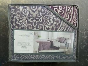 THRESHOLD PERCALE PAISLEY KING OR FULL/QUEEN DUVET COVER SET