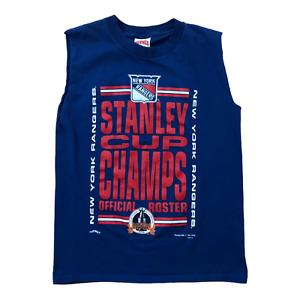 New York Rangers Stanley Cup Champions Vintage 90s NHL Hockey Sleeveless T-Shirt