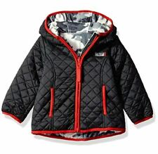 Weatherproof Baby Boys' Outerwear Jacket, W103-Reversible Black, 12M