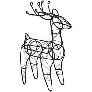 Rentier Figur LED beleuchtet weihnachtliche Metall Dekofigur
