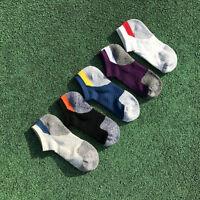 5Pairs Men's Sport Socks Ankle Socks Breathable Cotton Running Sock Low Cut Sock