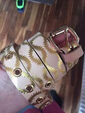 Vivienne Westwood Squiggle Belt Natural/gold