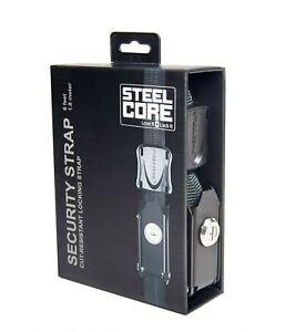 STEELCORE UNIVERSAL SECURITY STRAP - SINGLE 6 Feet/1.8 Metre BLACK